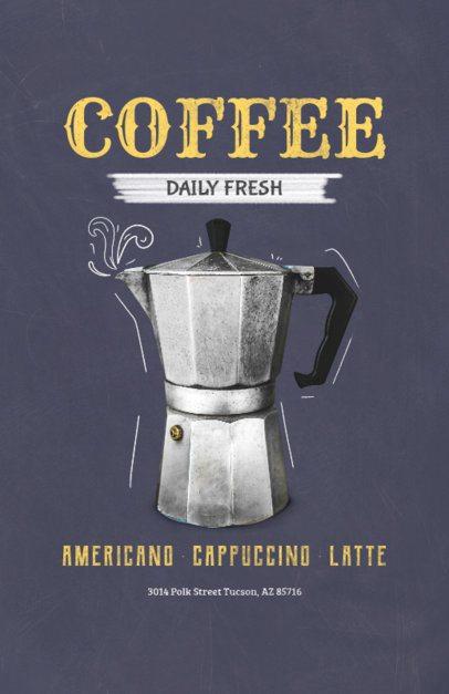 Online Flyer Maker with Coffee Maker Design 404e