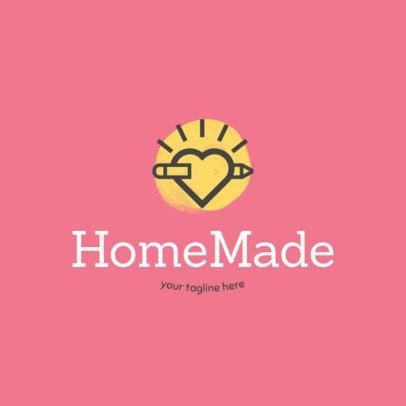 Handicraft Shop Logo Maker with Pencil Clipart 1404c