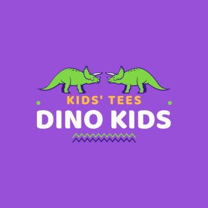 Kids' Tee Brand Logo Maker with Dinosaur Graphics 1322a