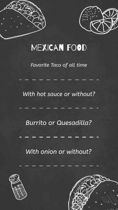 Insta Story Template for Mexican Restaurant 584b