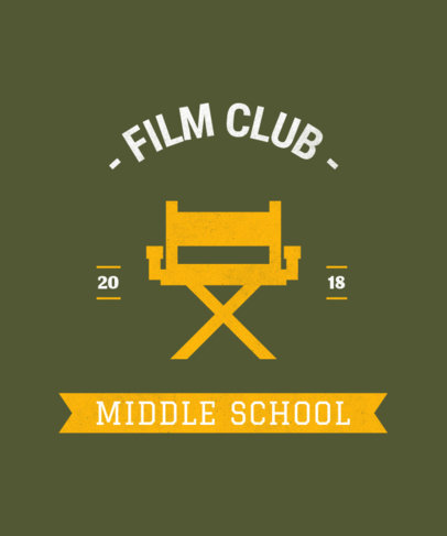 Film Club T-Shirt Design Template 484a