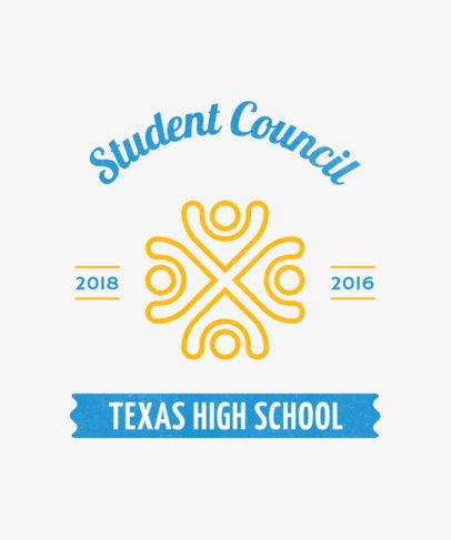Student Council T-Shirt Design Maker 484b