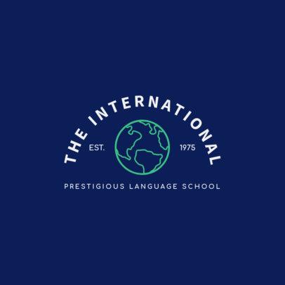 Prestigious Language Center Logo Maker 1365b