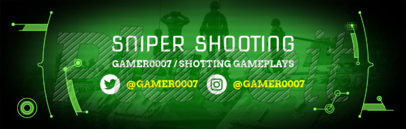 Twitch Banner Template with Sniper Background 588