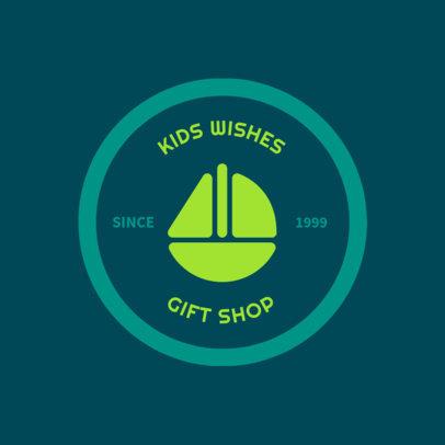 Children's Gift Shop Logo Design Maker 1393b