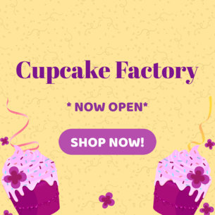 Online Banner Maker with Cupcake Graphics 383b