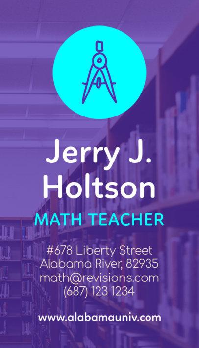 Math Teacher Business Card Template 573d