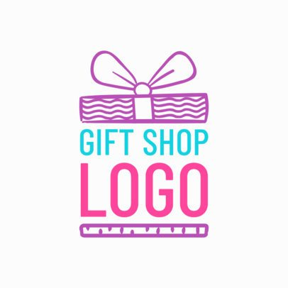 Colorful Logo Creator for Gift Shops 1395a