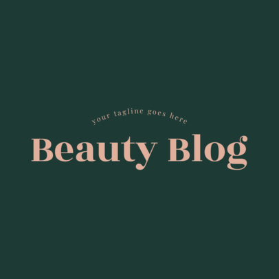 Text Only Logo Maker for a Beauty Blog 1409a