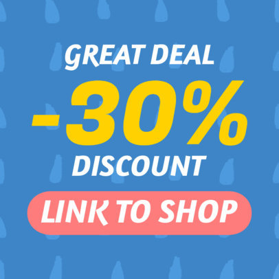 Discount Sales Banner Maker with Attractive Design 528b