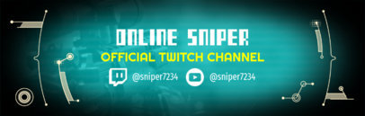 Twitch Banner Maker with Sniper Gaming Background 588a