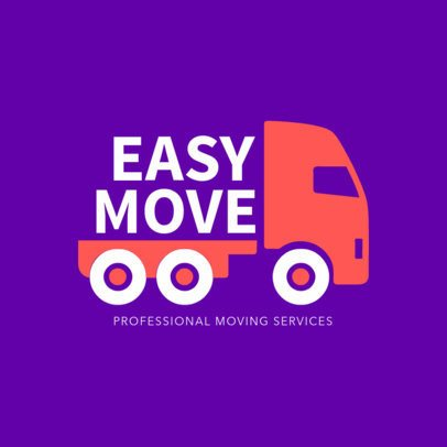 Creative Logo Design Template for Moving Services 1386b