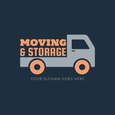 House Movers Logo Template with a Truck Icon 1386c