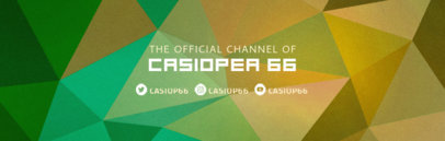 Twitch Banner Maker with a Colorful Geometric Background 581c