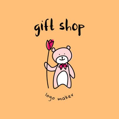 Logo Maker for Gift Shops with Teddy Bear Graphics 1396b