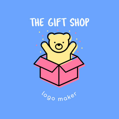 Cute Gift Shop Logo Design Template 1396e