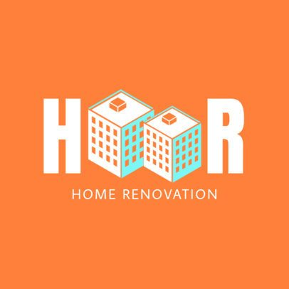 Home Renovation Online Logo Maker 1432a