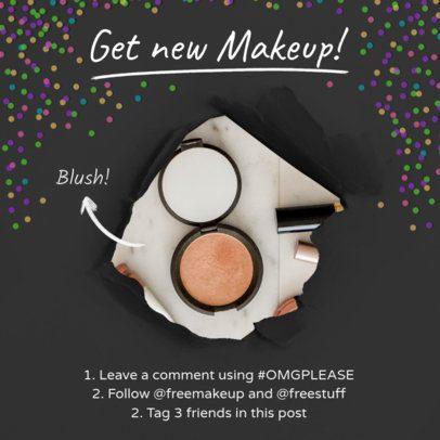 Instagram Post Template for Makeup Giveaway 629c