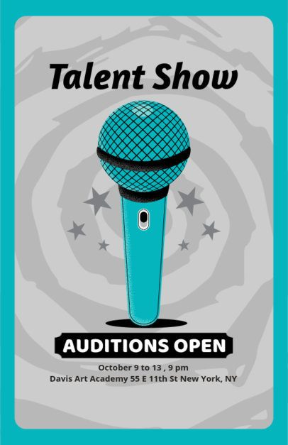 Flyer Maker for Talent Show Auditions 422d