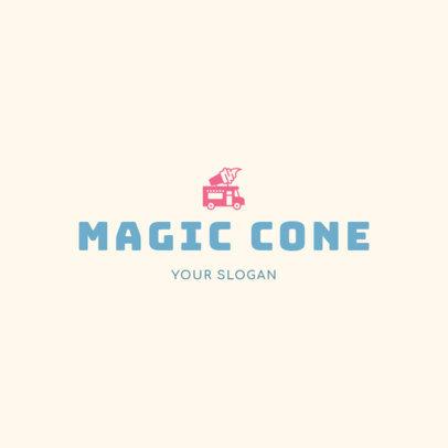Creative Ice-Cream Logo Design Maker 1398b