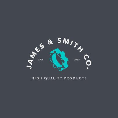 Industrial Logo Maker for a Manufacturing Company 1415