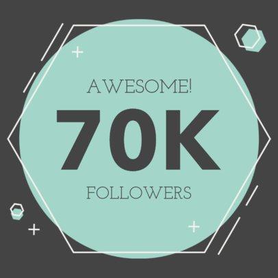 Instagram Post Creator for a Followers Milestone Celebration 615c