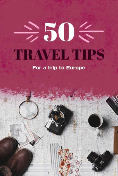 Pinterest Pin Template for European Travel Tips 614b