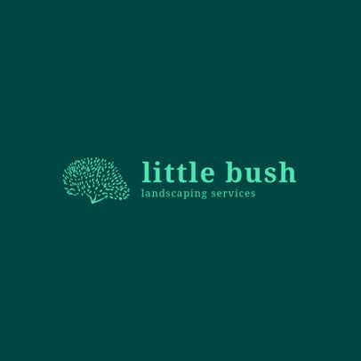 Logo Design Template with Bush Graphics 1425c