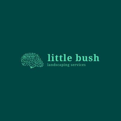 Logo Design Template with Bush Graphics 1425c