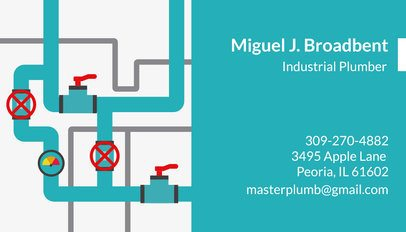 Business Card Template for Industrial Plumbers 660