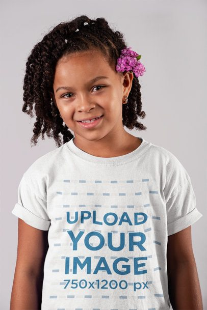 T-Shirt Mockup of a Smiling Child 22073