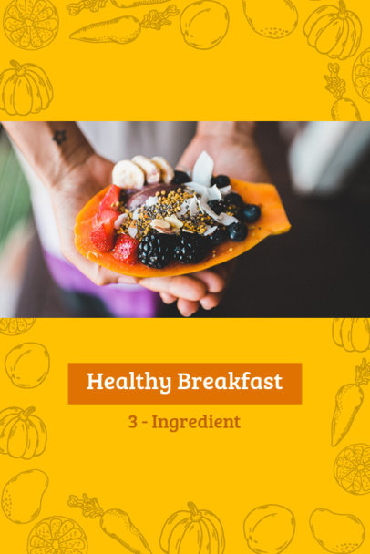 Pinterest Pin Post Maker for Healthy Breakfast Tips 624e