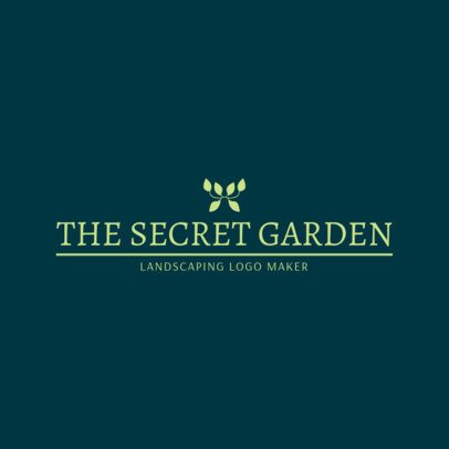 Landscaping Logo Template for a Hardscaping Company 1424b