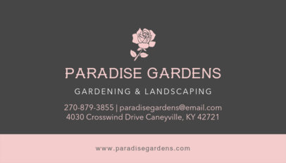 Gardening and Landscaping Business Card Template 652a