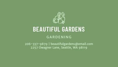 Online Business Card Maker for Gardening 652d