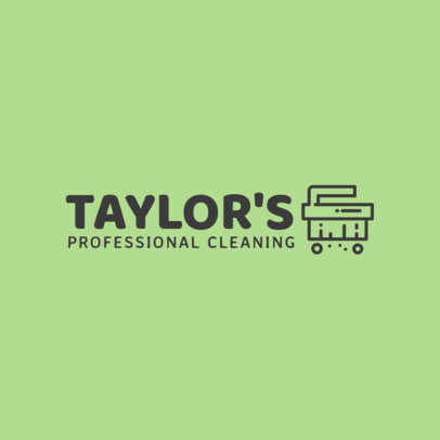 Professional Cleaners Logo Design Template 1447e