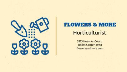 Horticulturist Business Card Maker 666b