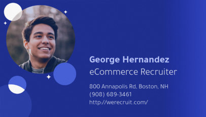 eCommerce Recruiter Business Card Template 642b