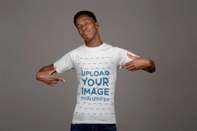Mockup of a Man Showing his Esports T-shirt 21155