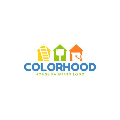 Logo Maker for a House Painting Company 1437d