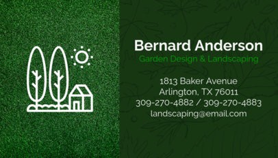 Garden Design and Landscaping Business Card Maker 658