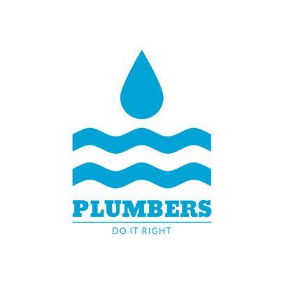Online Logo Design Template for Plumbers 1450
