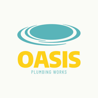 Plumbing Business Logo Template 1450b