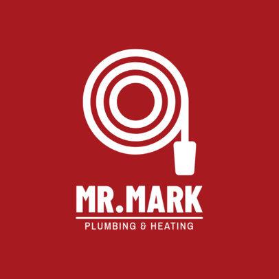 Plumbing and Heating Business Online Logo Maker 1450c