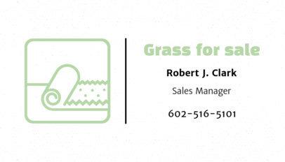 Business Card Maker for a Grass Store 666d