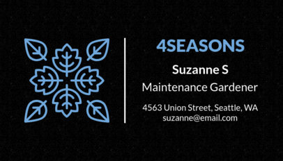 Maintenance Gardener Business Card Template 666e