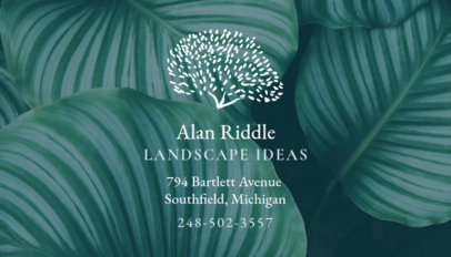 Business Card Template for Landscaping 647a