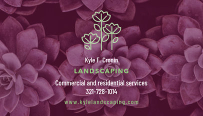 Commercial and Residential Landscaping Business Card Maker 647b