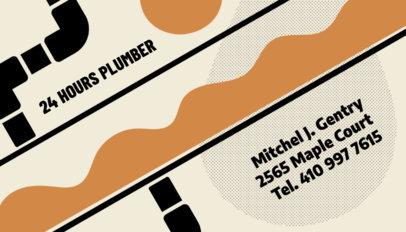 24 Hrs Plumbing Services Business Card Maker 662b