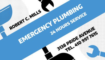 Emergency Plumbing and Drain Business Card Maker 662c